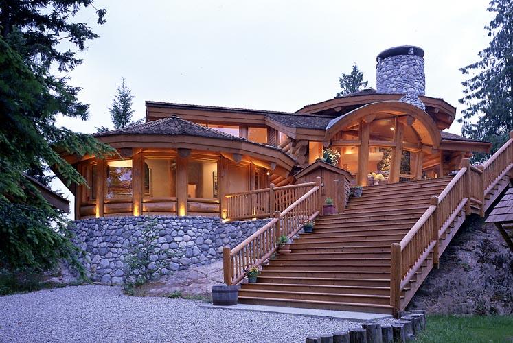 Деревянные дома из сруба фото