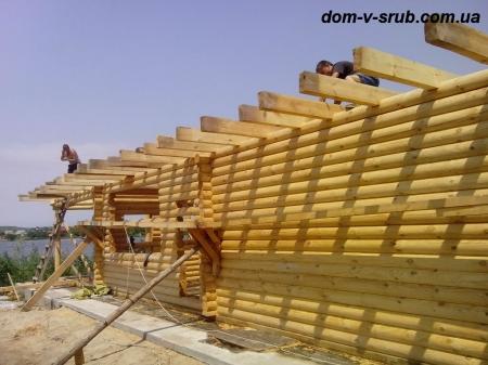 Срубы в процессе строительства_103