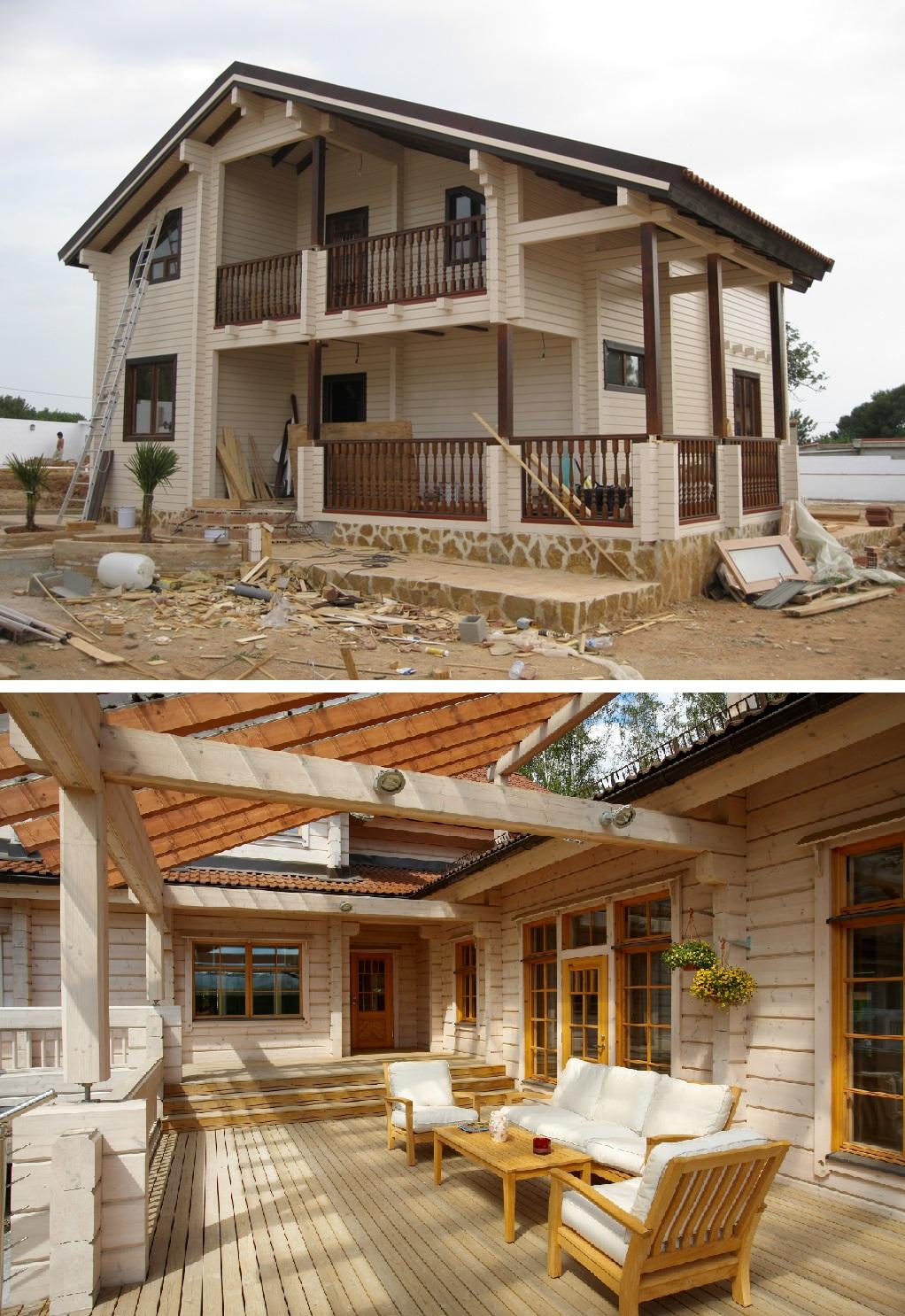 Как сделать современный деревянный дом из клееного 6
